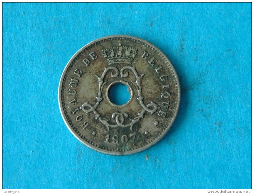 1907 FR - 5 Centiem ( Morin 279 - For Grade, Please See Photo ) ! - 1865-1909: Leopold II