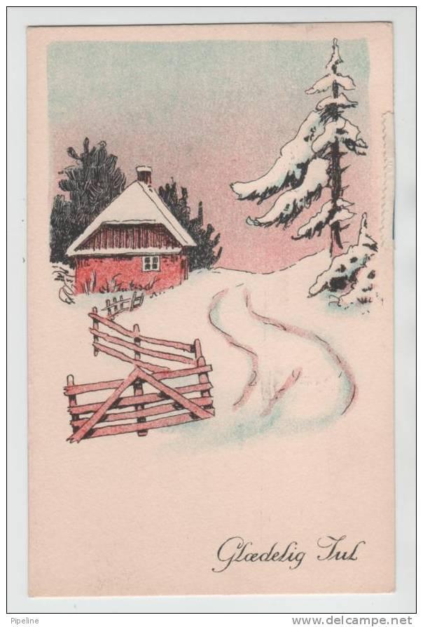 Denmark Christmas Card Copenhagen 23-12-1937 With Christmas Seal - Danemark