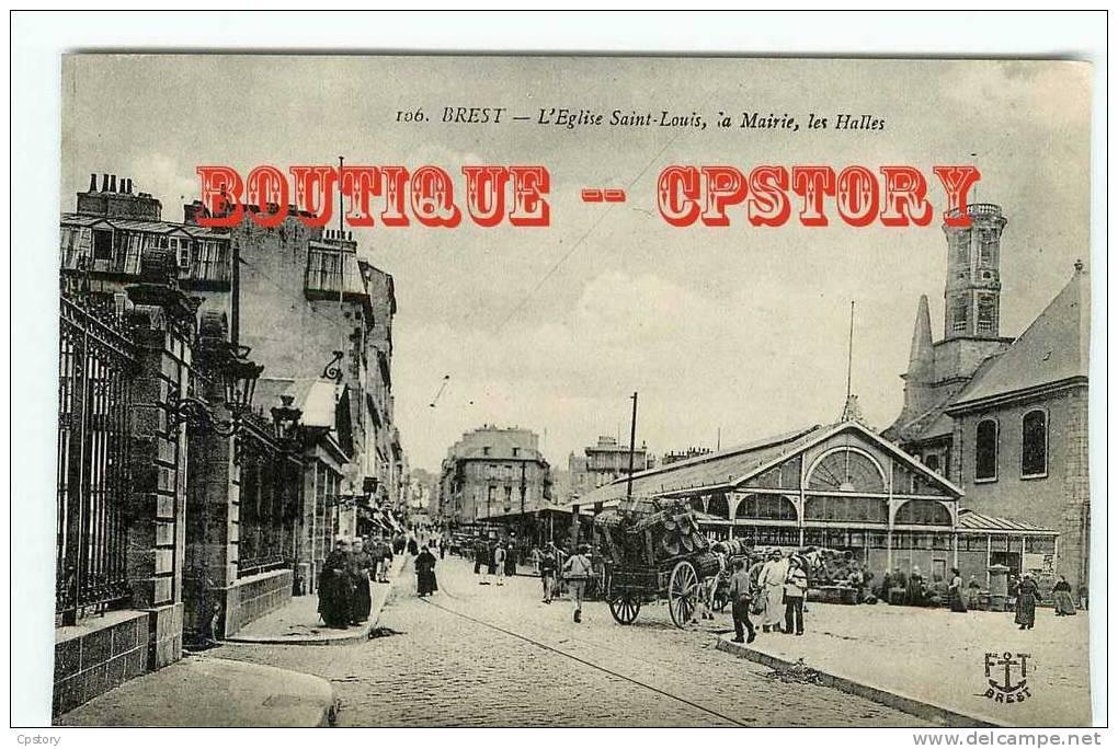 HALLE Du MARCHE De Brest - Attelage - Halles - Dos Scané - Halles