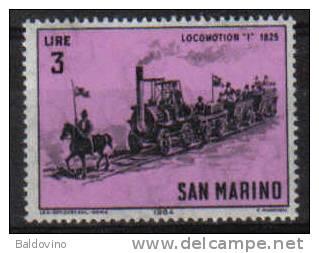 S. Marino 1964 Locomotive 3 £. - San Marino