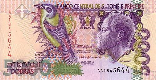 SAN TOME ET PRINCIPE   5 000 Dobras  Daté Du 22-10-1996   Pick 65a     ***** BILLET  NEUF ***** - Sao Tomé Et Principe