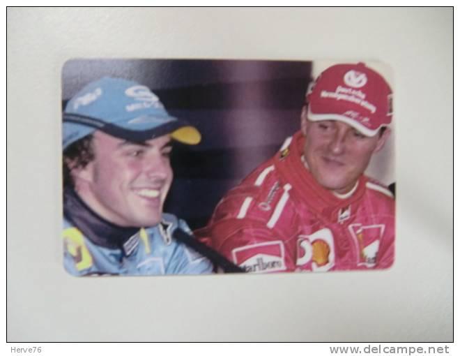 Télécarte Prépayée - Phonecard - Formule 1 - Renault - Fernando ALONSO - M. Schumacher - Voitures