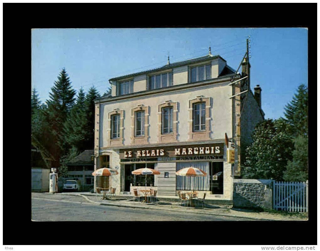 23 - LA VILLENEUVE-EN-MARCHE - Hotel Le Relais Marchois - 2 - Pompe A Essence - Carotte Tabac - France