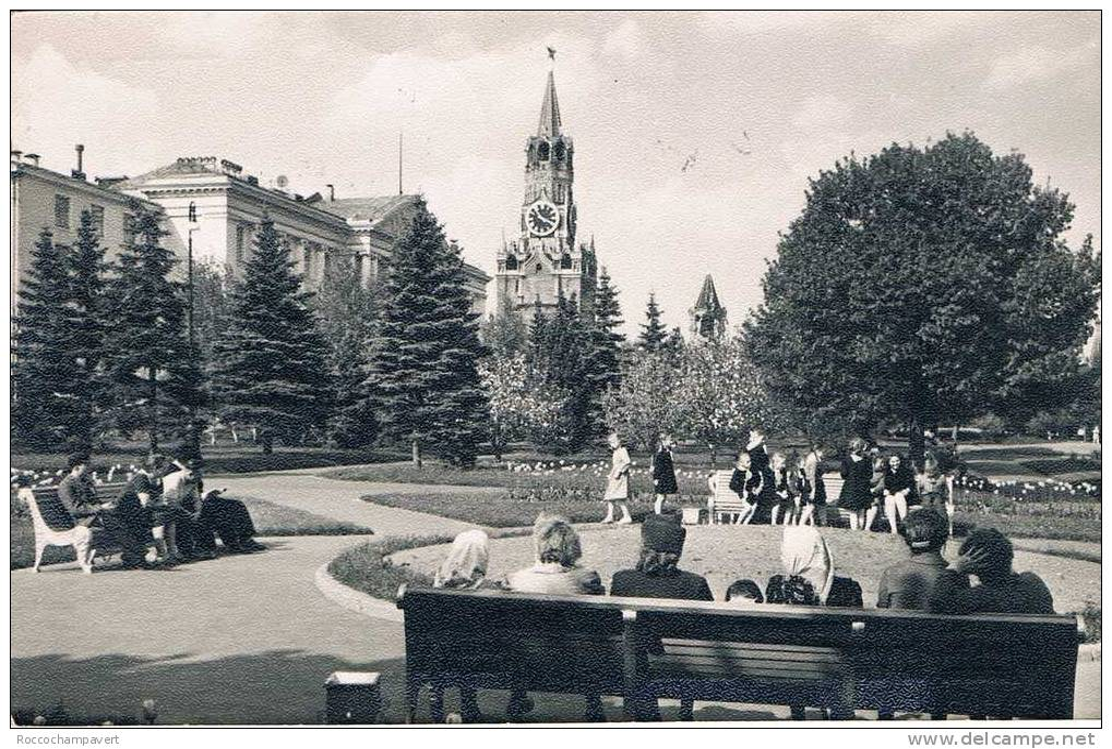 Carte Postale Ancienne - RUSSIE - Moscou - Le Kremlin - Les Jardins - Russland
