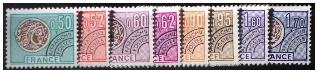 1976 - Serie  YT PREO 138-145 ** - Monnaie Gauloise - Liquidation - 1964-1988