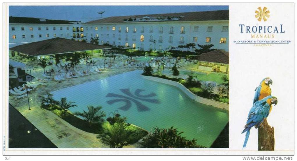 Amérique > Brésil  HOTEL TROPICAL MANAUS-Amazonas ( Perroquet) -Cpm Format 21 X 11 Cms   *PRIX FIXE - Manaus