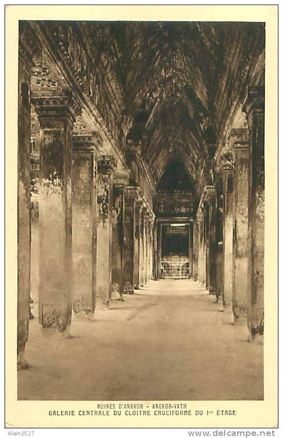 Ruines D'ANGKOR - Angkor-Vath - Galerie Centrale Du Cloître Cruciforme Du 1er étage (Braun & Cie) - Cambodge