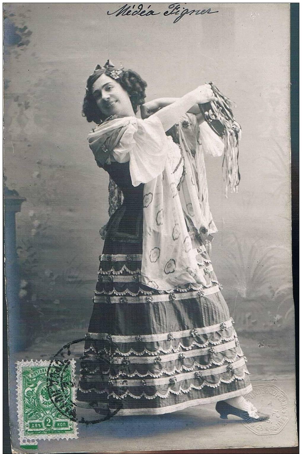 Carte Postale Ancienne - RUSSIE - Chanteur/ Personnage D´opéra - Medea Figner - Rusia