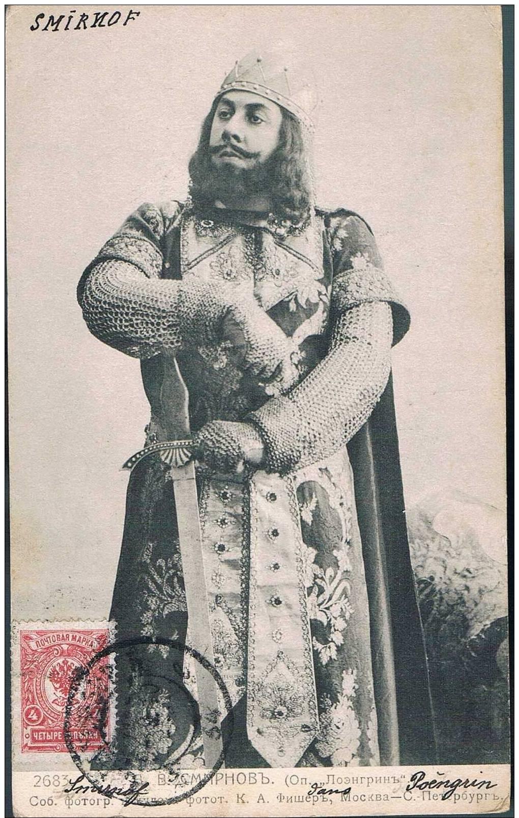 """Carte Postale Ancienne - RUSSIE - Chanteur/ Personnage D´opéra - Smirnov Dans """"lohengrin"""" - Russia"""