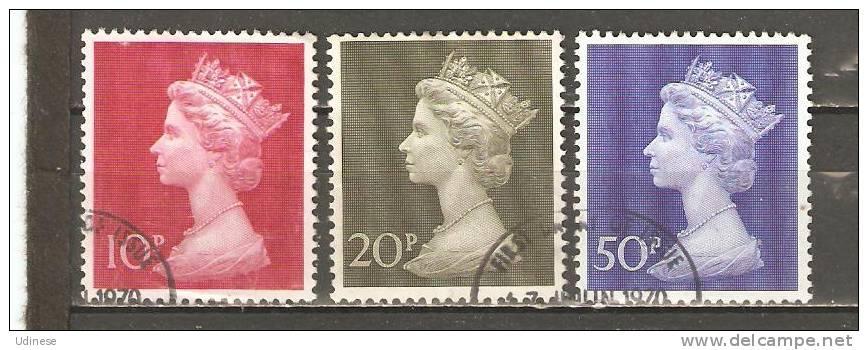 UNITED KINGDOM 1971 - QUEEN ELIZABETH II - CPL. SET - USED OBLITERE GESTEMPELT USADO - 1952-.... (Elizabeth II)