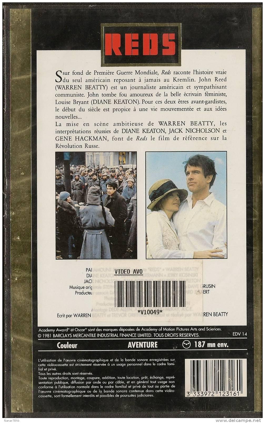 REDS De Warren Beatty Avec Warren Beatty, Diane Keaton, Jack Nicholson - Geschichte