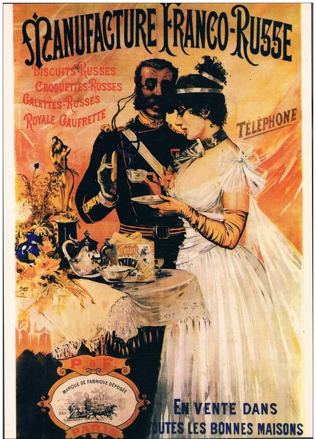 Publicité Sur Carte - Manufacture Franco-Russe - Publicidad