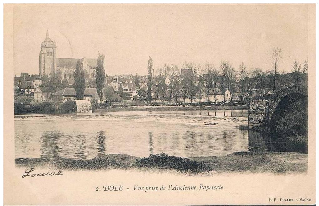 Carte Postale Ancienne - DOLE - Vue Prise De L'ancienne Papéterie - Dole