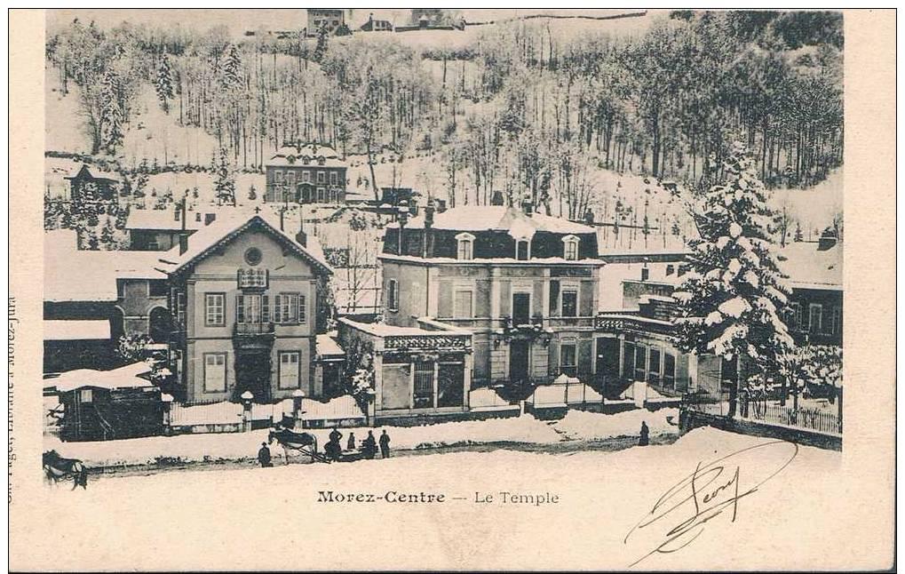 Carte Postale Ancienne - MOREZ Centre - Le Temple - Morez