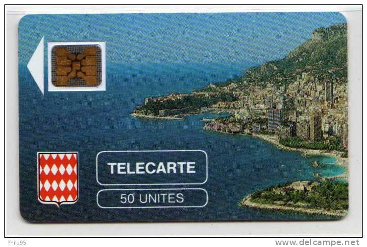 Télécarte De Monaco 50 Unités – Rocher Flèche Blanche - Monaco