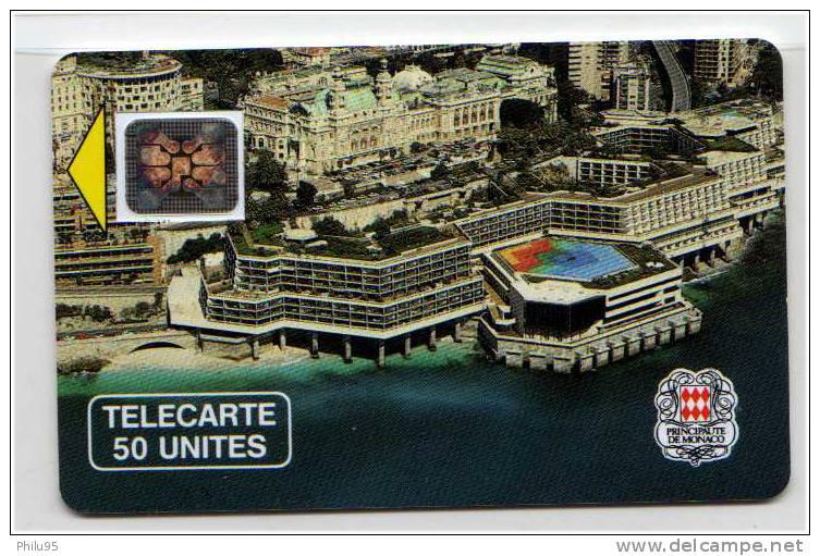 Télécarte De Monaco 50 Unités- Palais Des Congrès - Monaco