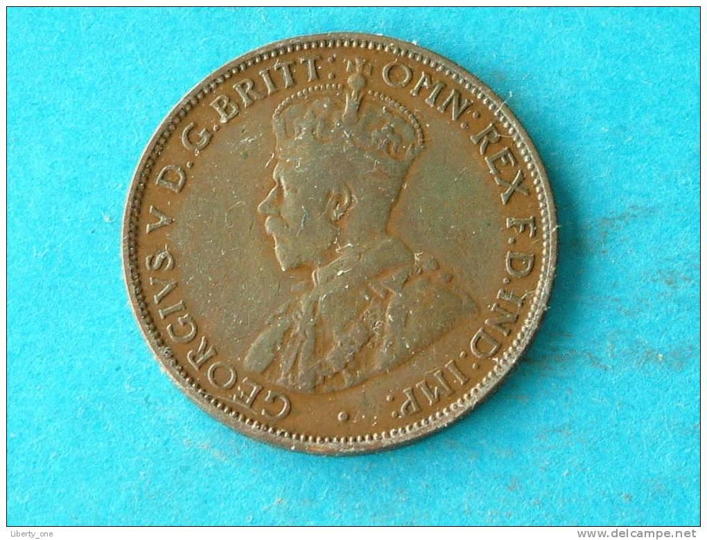 1 HALF PENNY 1917 I - KM 22 ( For Grade, Please See Photo ) ! - Pre-decimale Munt (1910-1965)