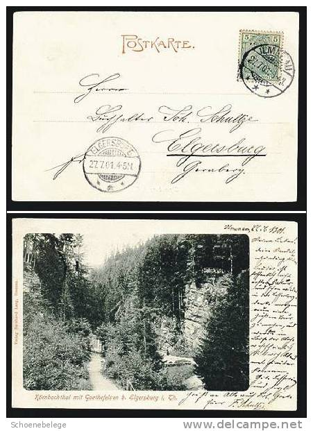 A552) Ansichtskarte Körnbachthal Bei Elgersburg 1901 Gelaufen - Elgersburg