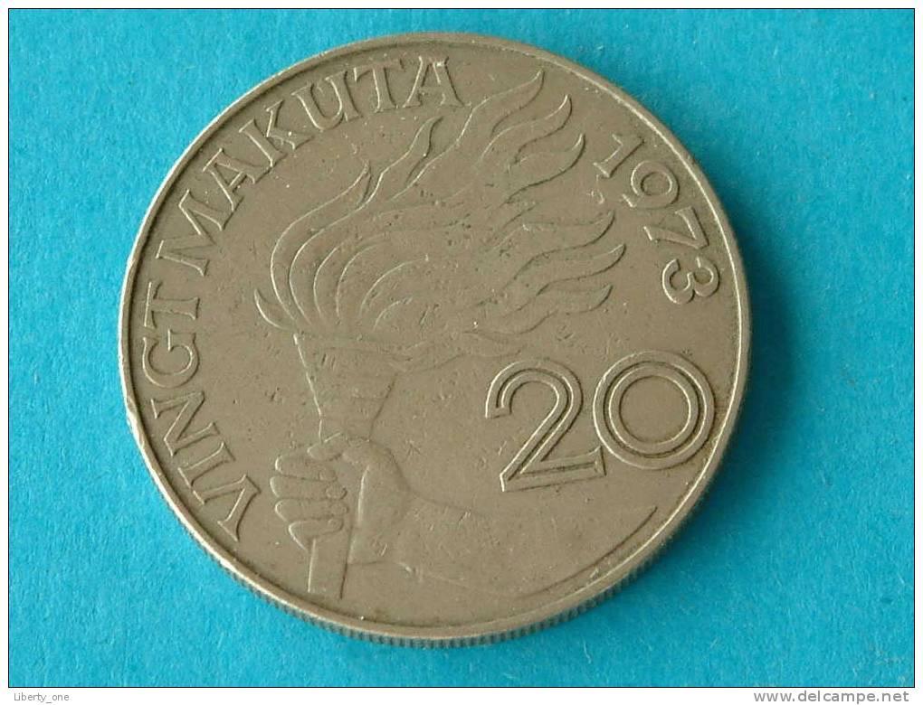 1976 - VINGT MAKUTA - KM 8 ( For Grade, Please See Photo ) ! - Zaire (1971-97)