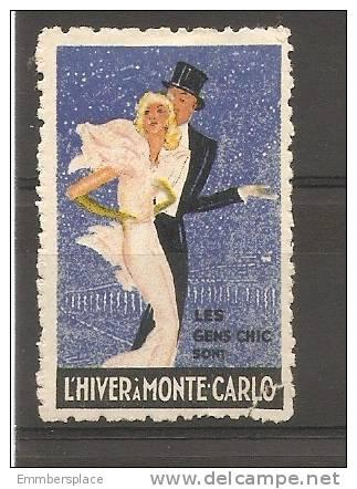 VIGNETTE - L'HIVER A MONTE CARLO (LES GEMS CHIC SONT) - Commemorative Labels