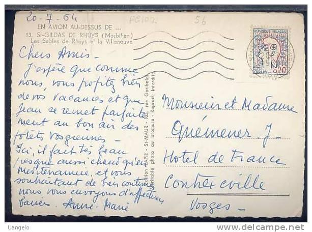 FG107 EN AVION DESSUS DE ST GILDAS DE RHUYS - Francia