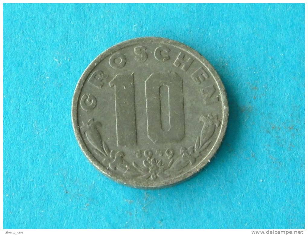 1949 - 10 GROSCHEN - KM 2874 ( For Grade, Please See Photo ) ! - Autriche