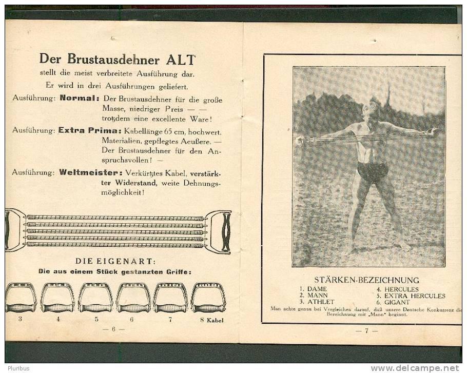 VINTAGE GERMAN GYMNASTICS INSTRUMENT CATALOGUE EXPANDER - Old Paper