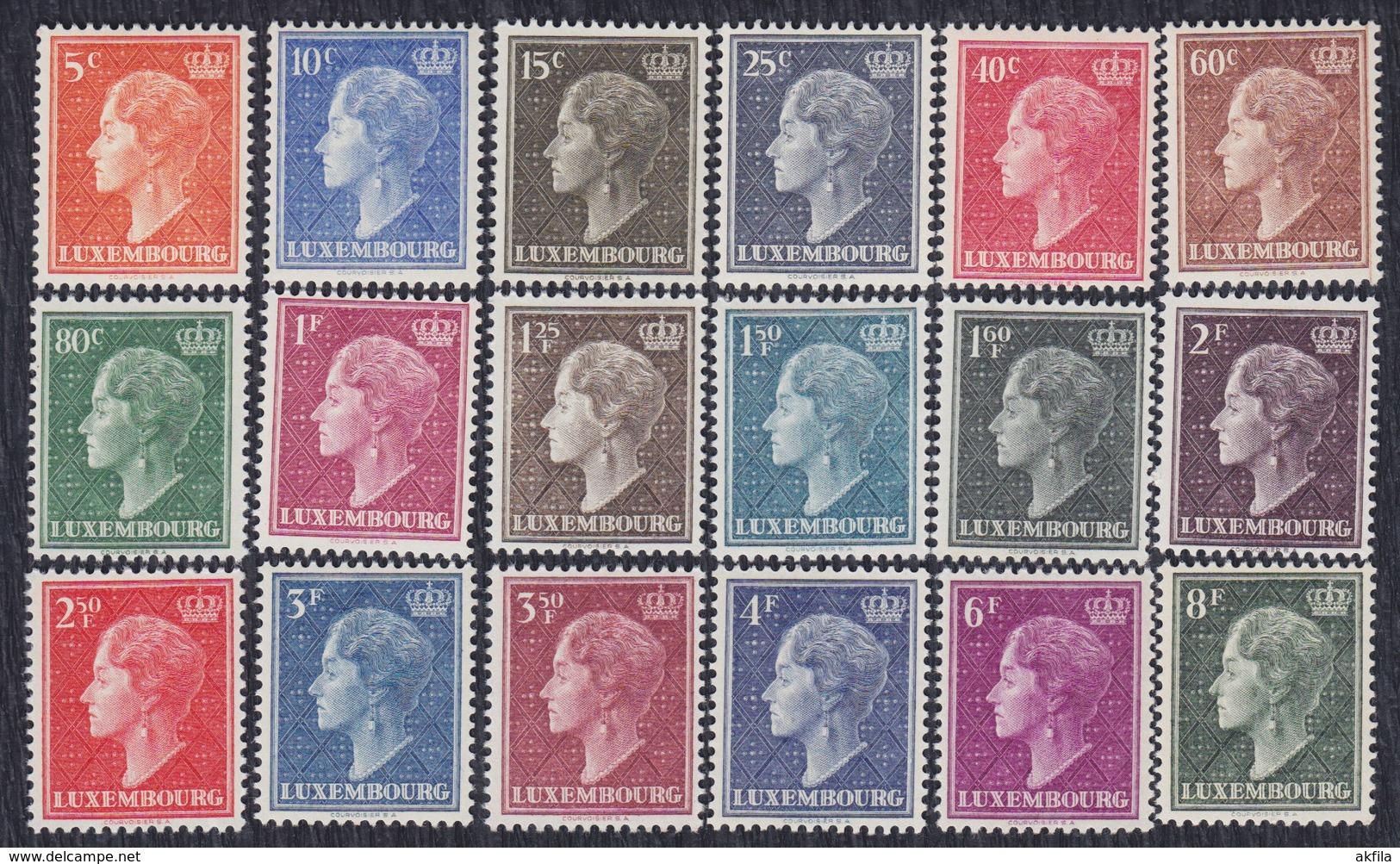 Luxembourg 1948/51 Charlotte, Grand Duchess Of Luxembourg, MNH (**) Michel 442-459 - Luxembourg
