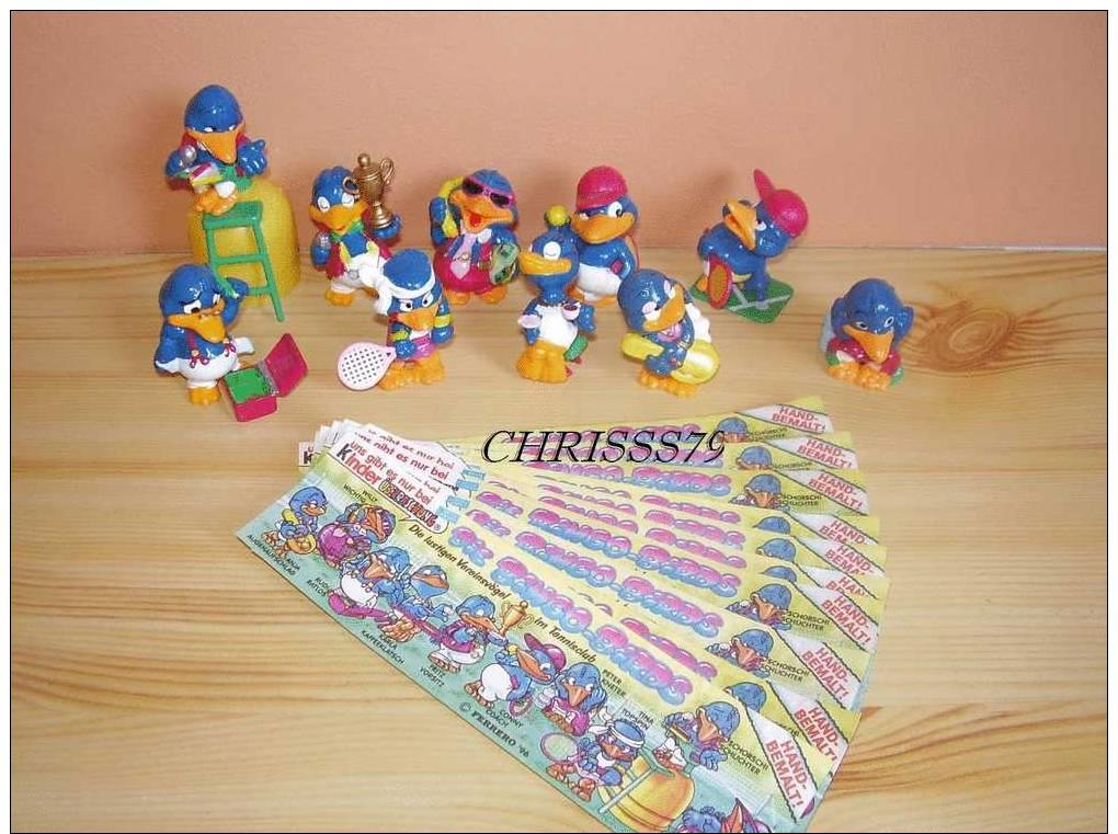 Serie Complette Bingo Birds + 10 Bpz - Familles
