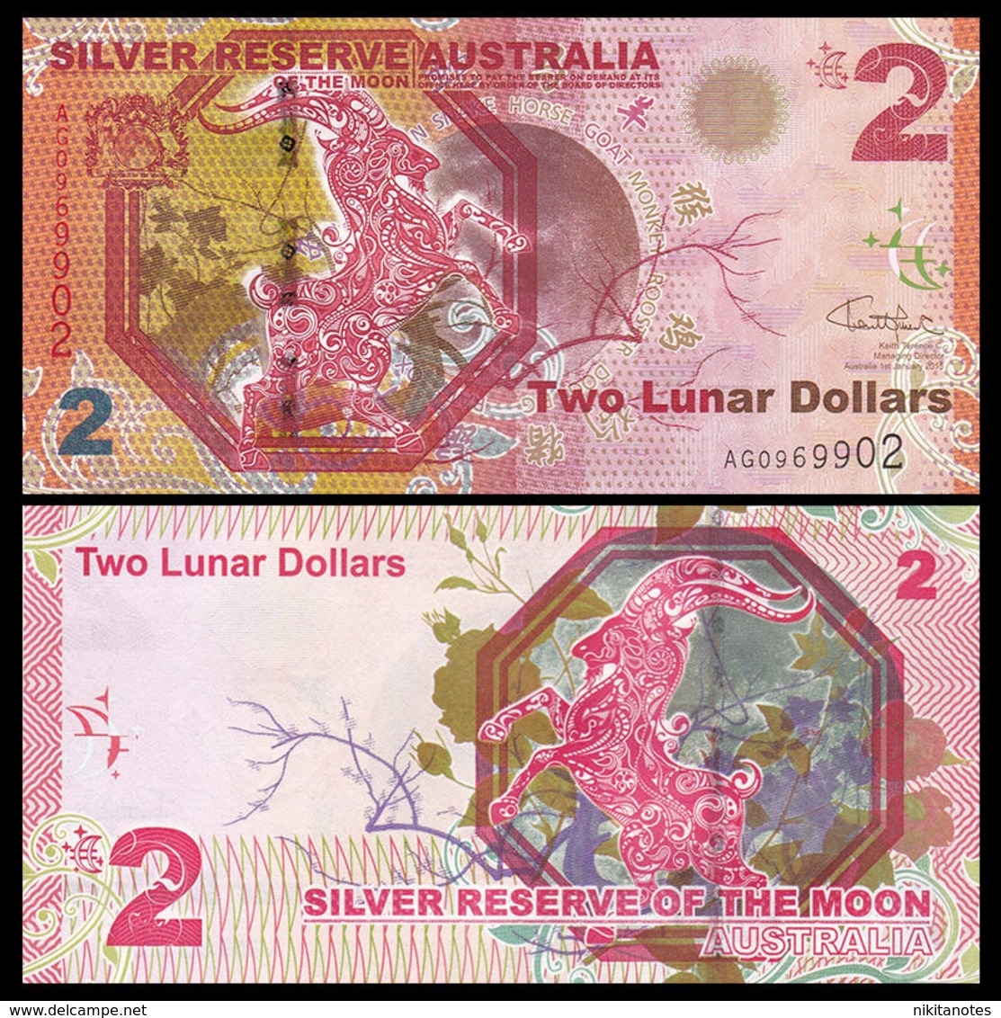 Australia 2 Lunar DOLLARI $ 2015 Fantasy - Altri