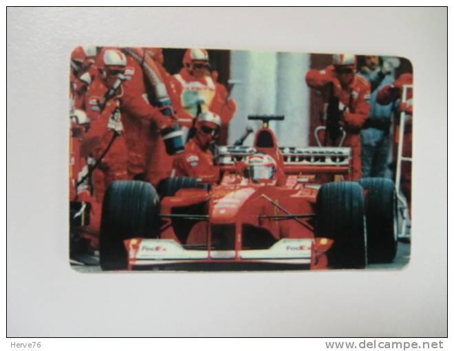 Télécarte Prépayée - Phonecard - Formule 1 - Ferrari - M. Schumacher - Coches