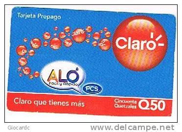 GUATEMALA - CLARO (GSM RECHARGE) - ALO   - USED - RIF. 668 - Guatemala