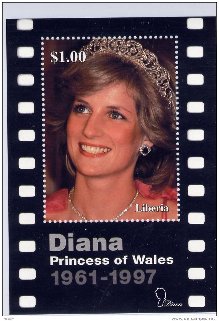 LIBERIA ,  PRINCESS OF WALES, LADY DIANA, SS #,  M NH, BEAUTIFULL - Liberia
