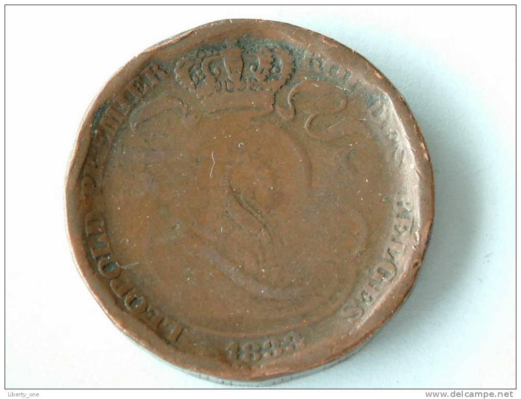 1833 - 10 Cent / Morin 62 Rare / 19.3 Gram ( For Grade, Please See Photo ) ! - 1831-1865: Léopold I
