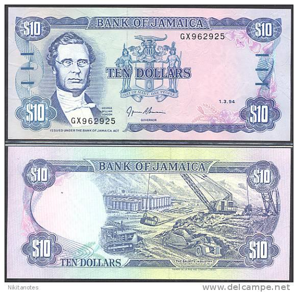 * JAMAICA - 10 DOLLARS 1994 UNC - P 71e - Giamaica