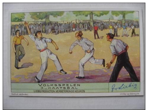 Chromo   LIEBIG    Thème Sport  Précurseur   Kaatsbal    Balle Pelote - Liebig