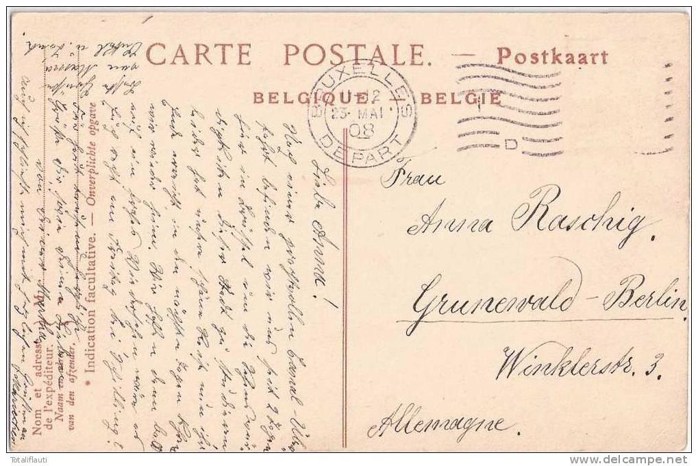 Bruxelles La Rue Et L'Eglise Sainte Gudule Tram La Mutuelle De France & Des Colonies Walter Barthe MAISON LAVALETTE 1908 - Monumenti, Edifici