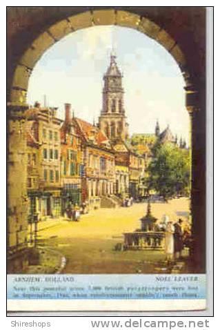 Arnhem Holland British Paratroopers Postcard Blotter - Blotters