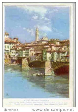 Ponte Vecchio Florence Old Bridge Arno River Postcard Blotter - Blotters