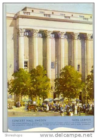 Concert Hall Sweden Noel Leaver Postcard Blotter - Blotters