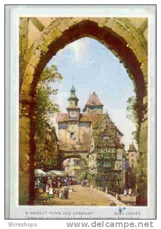 Market Town Old Germany Noel Leaver Postcard Blotter - Blotters