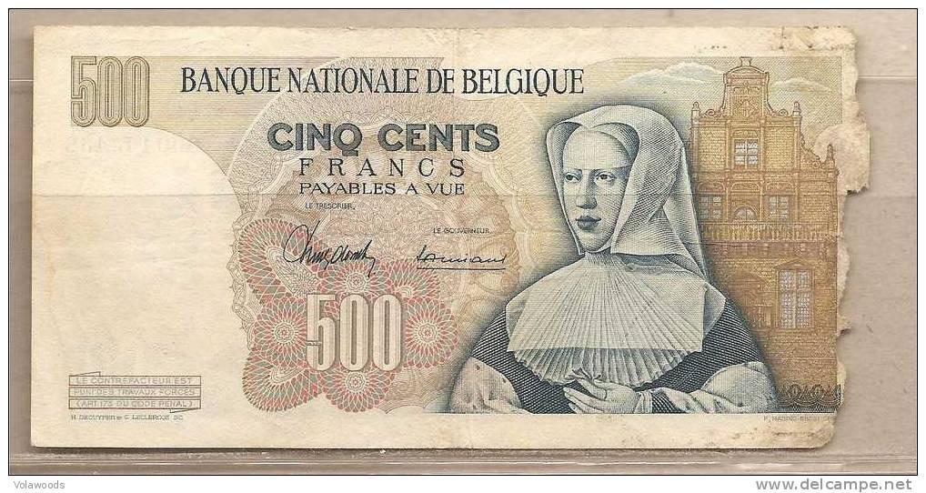 Belgio - Banconota Circolata Da 500 Franchi - 1961 - Condizioni Come Da Foto - 500 Francs