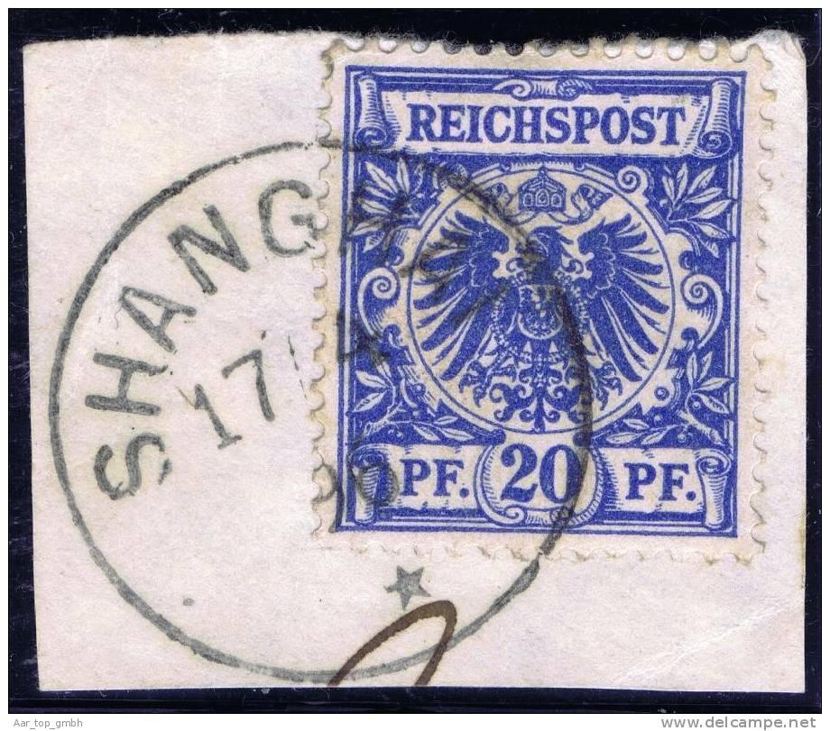 Deutsche Post In China Vorläufer Mi#V48d Gestempelt Shanhai 1895-04-17 - Offices: China