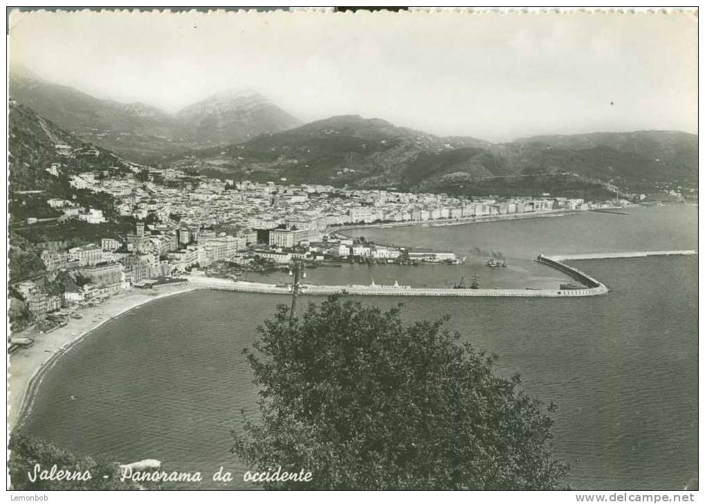 Italy - Italia - Salerno - Panorama Da Occidente - Old Unused Real Photo Postcard [P2750] - Salerno