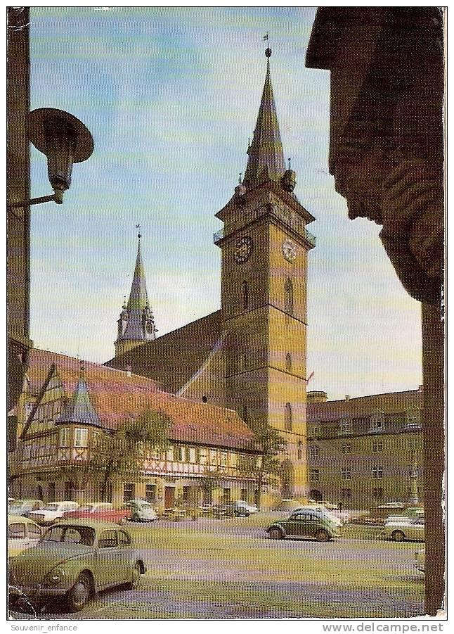 CP Ohringen Hohenlohe Evang Kirche Bade Wurtemberg Deutschland Allemagne Coccinelle - Oehringen