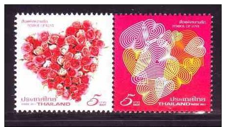 THAILANDE - THAILAND  2011 :   Rose  (  St Valentin )  **    /      Rose  (  St Valentin )  MNH - Rose