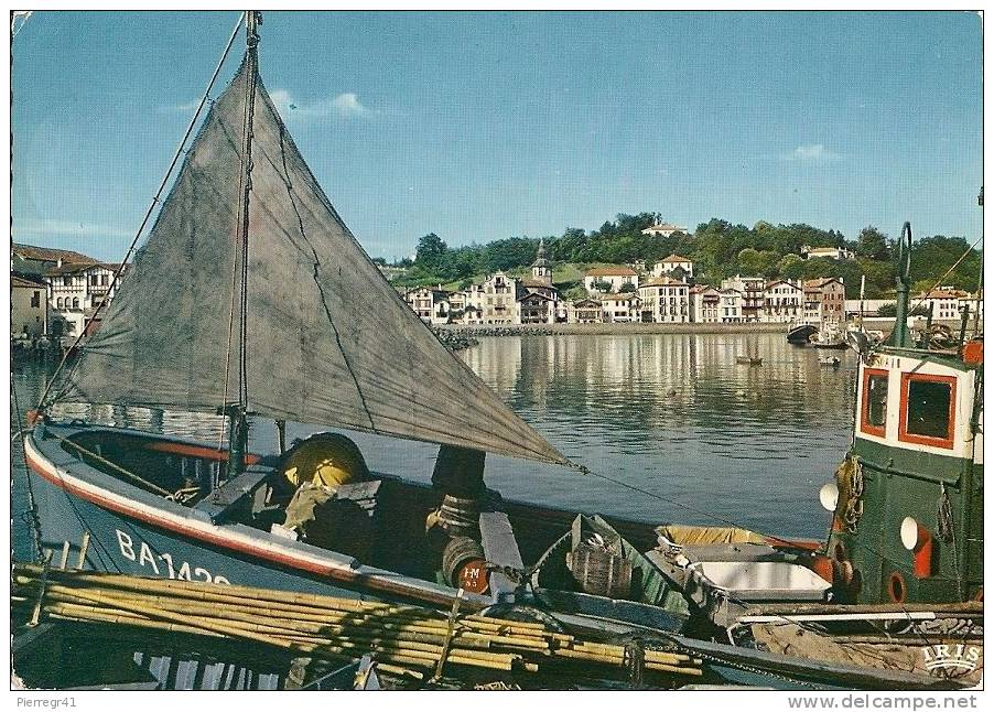 CPA-1965-64-ST JEAN DE LUZ-PORT DE CIBOURE AU FONDQUAI ET MAISON DE RAVEL-   TBE - Saint Jean De Luz