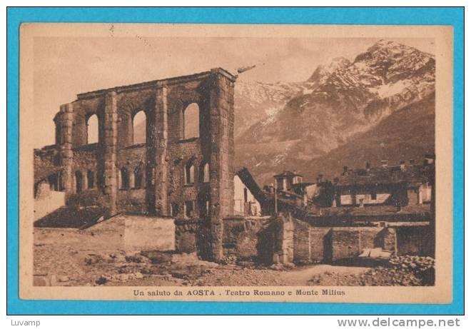AOSTA - F/P-B/N Cartonata- Teatro Romano - Aosta