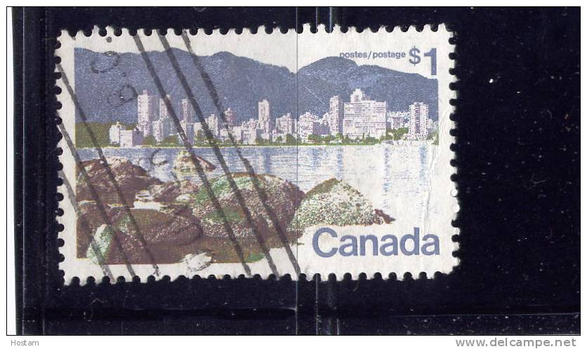 CANADA, 1973, # 600, LANDSCAPE DEFINITIVES VANCOUVER  USED NH - 1952-.... Règne D'Elizabeth II
