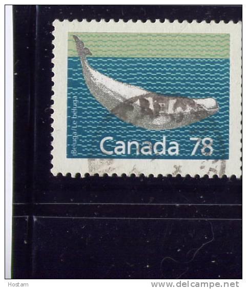 CANADA, 1989, # 1179b, MAMMAL DEFINITIVES  LOW VALUE: BELUGA  Used - 1952-.... Règne D'Elizabeth II